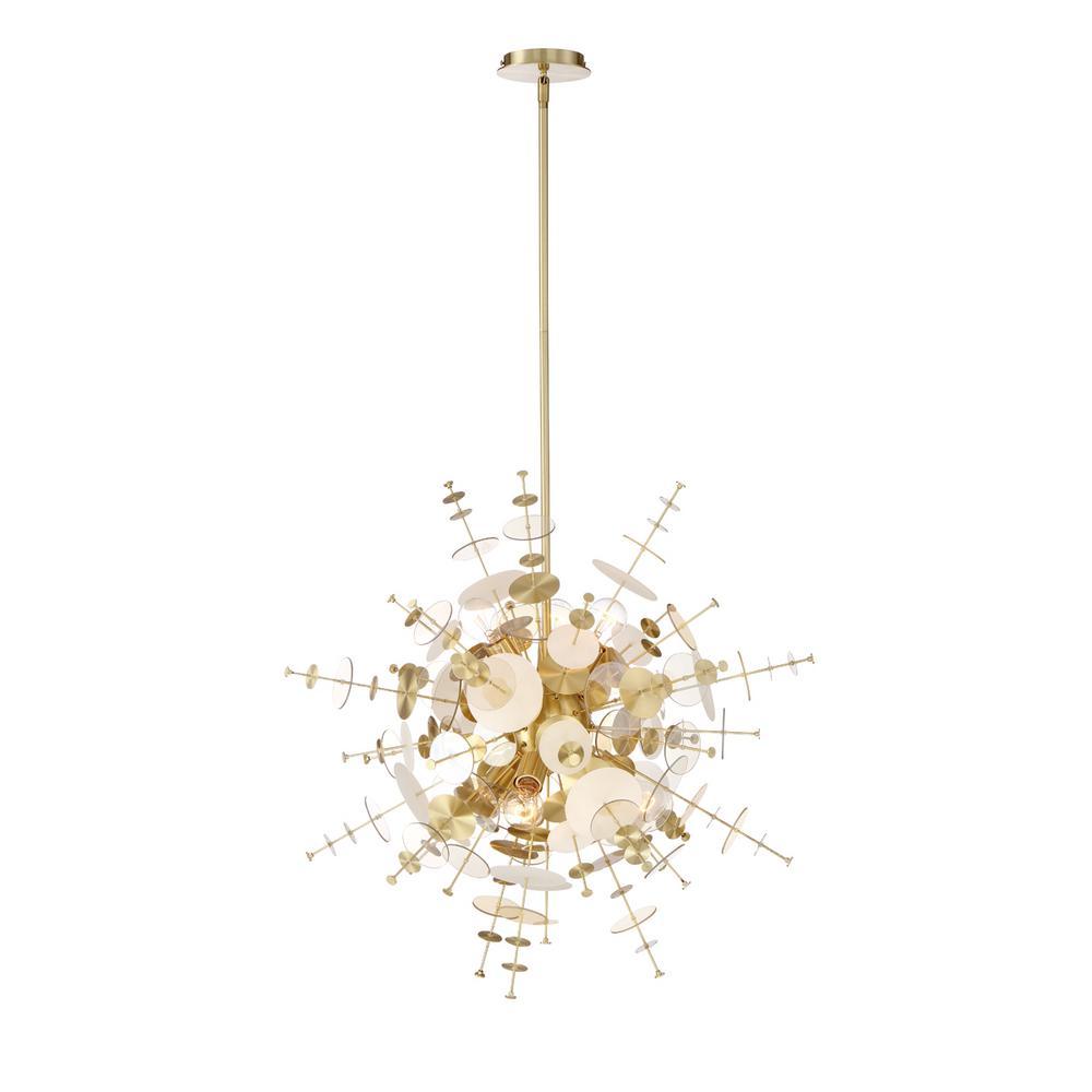 Bonazzi 9-Light Brass Chandelier
