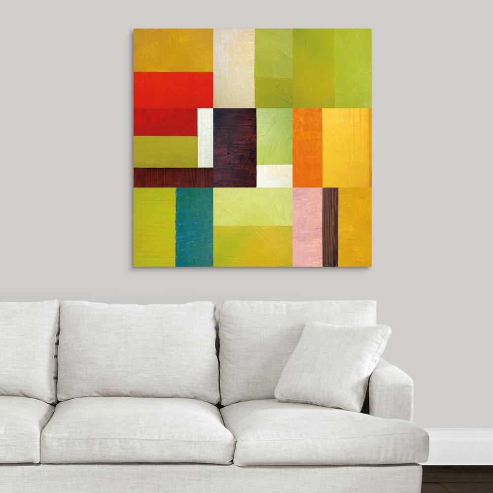 Awe Inspiring Color Study Abstract Ii By Michelle Calkins Canvas Wall Art Home Interior And Landscaping Staixmapetitesourisinfo