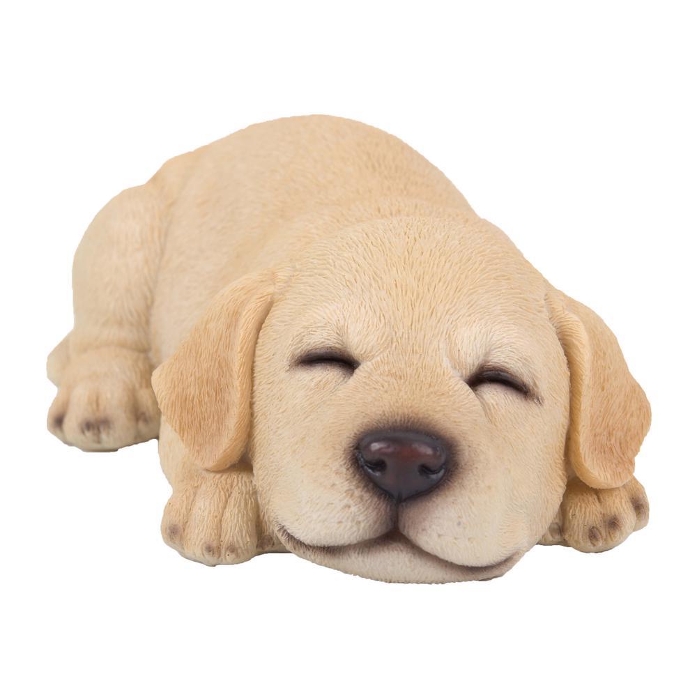 Yellow Labrador Puppy Sleeping Statue