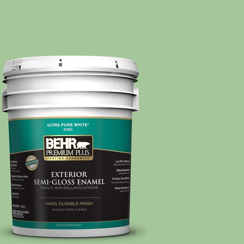 5-gal. #M390-4 Gingko Semi-Gloss Enamel Exterior Paint