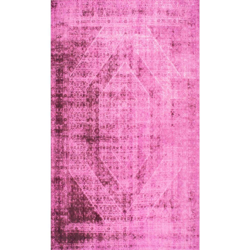 Nuloom Vintage Inspired Overdyed Pink 9 Ft 2 In X 12 Ft
