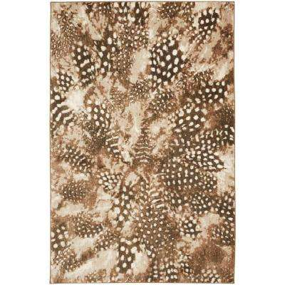Reflections Salem Feathers Brown 8 ft. x 10 ft. Area Rug