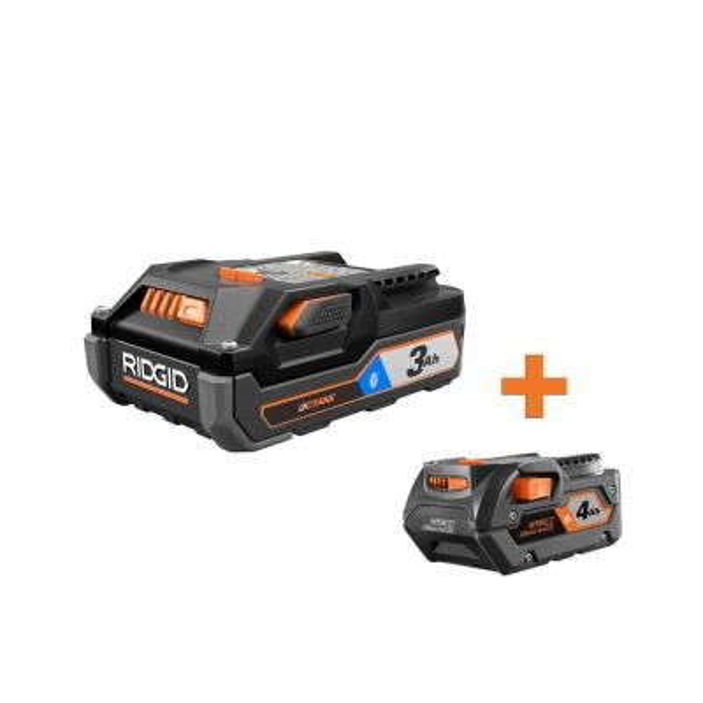 Ridgid 18-Volt OCTANE Bluetooth 3.0 Ah & 4.0 Ah Lithium-Ion Battery