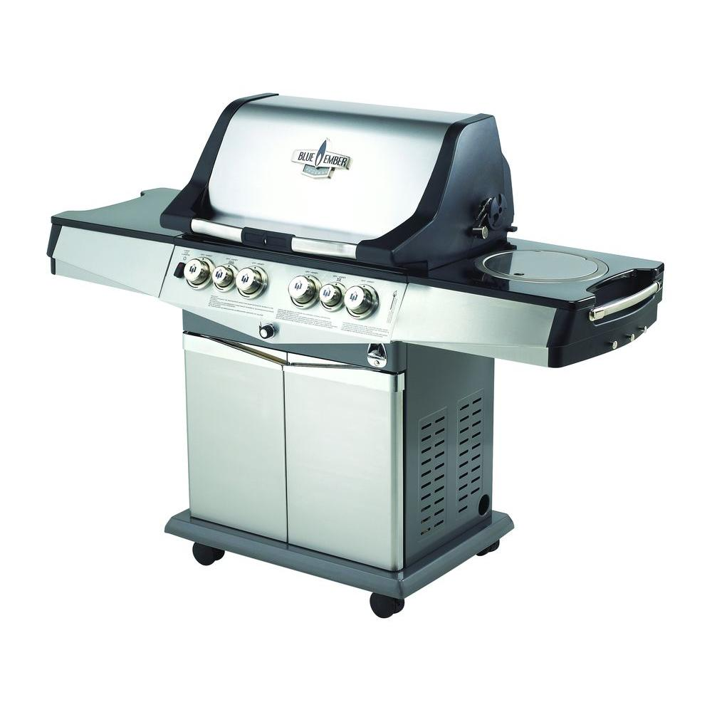 Blue Ember Professional 4-Burner Natural Gas Grill with Side Burner and Infrared Rear Burner-DISCONTINUED