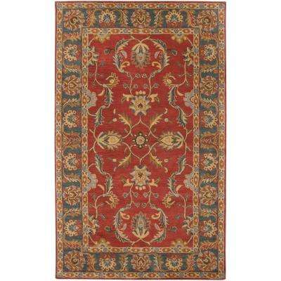 John Rust Red 6 ft. x 9 ft. Area Rug