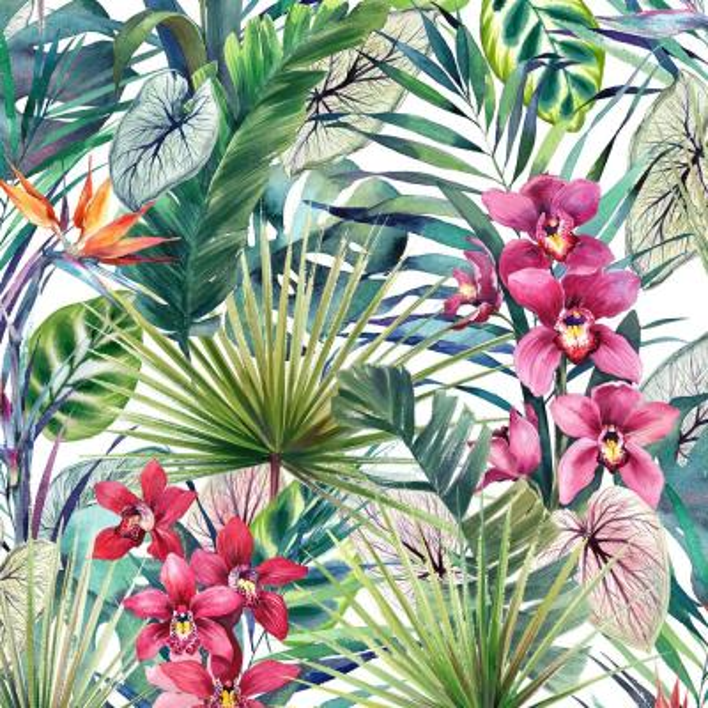 Aloha Tropical Multi Wallpaper Sample