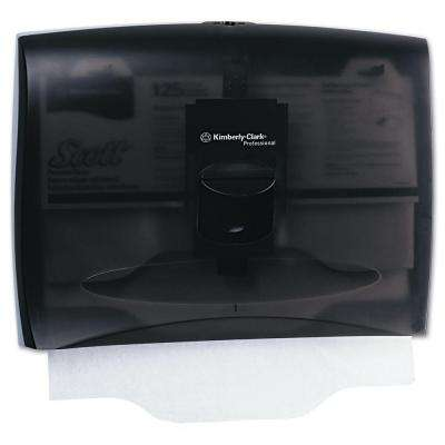 17-1/2 in. x 3-1/4 in. x 13-1/4 in. In-Sight Plastic Toilet Seat Cover Dispenser in Smoke/Gray
