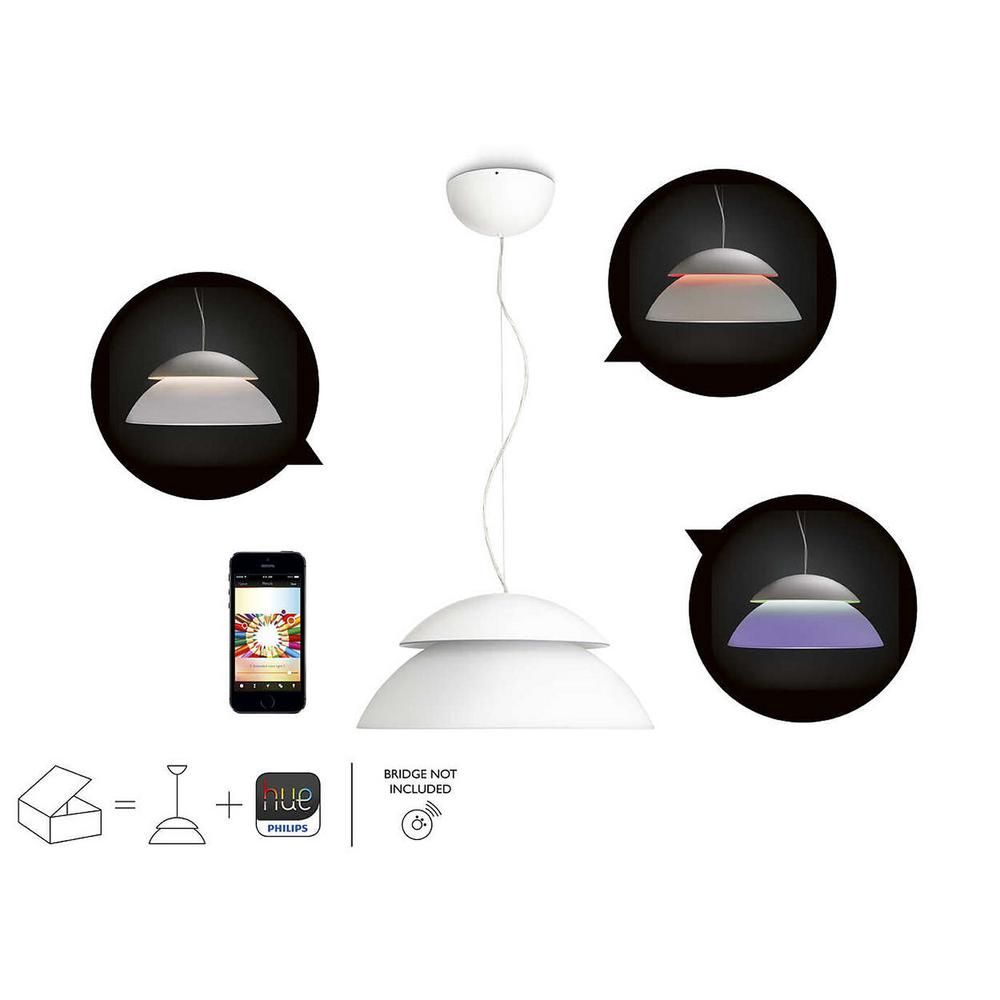 Philips hue white and color ambiance beyond dimmable smart pendant philips hue white and color ambiance beyond dimmable smart pendant light 2 independent uplight and aloadofball Images