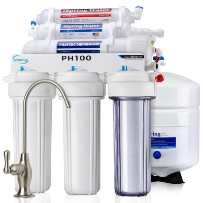 6-Stage High Capacity Reverse Osmosis Drinking Water Filtration System w/ Alkaline Filter,100 GPD, US Made Filters