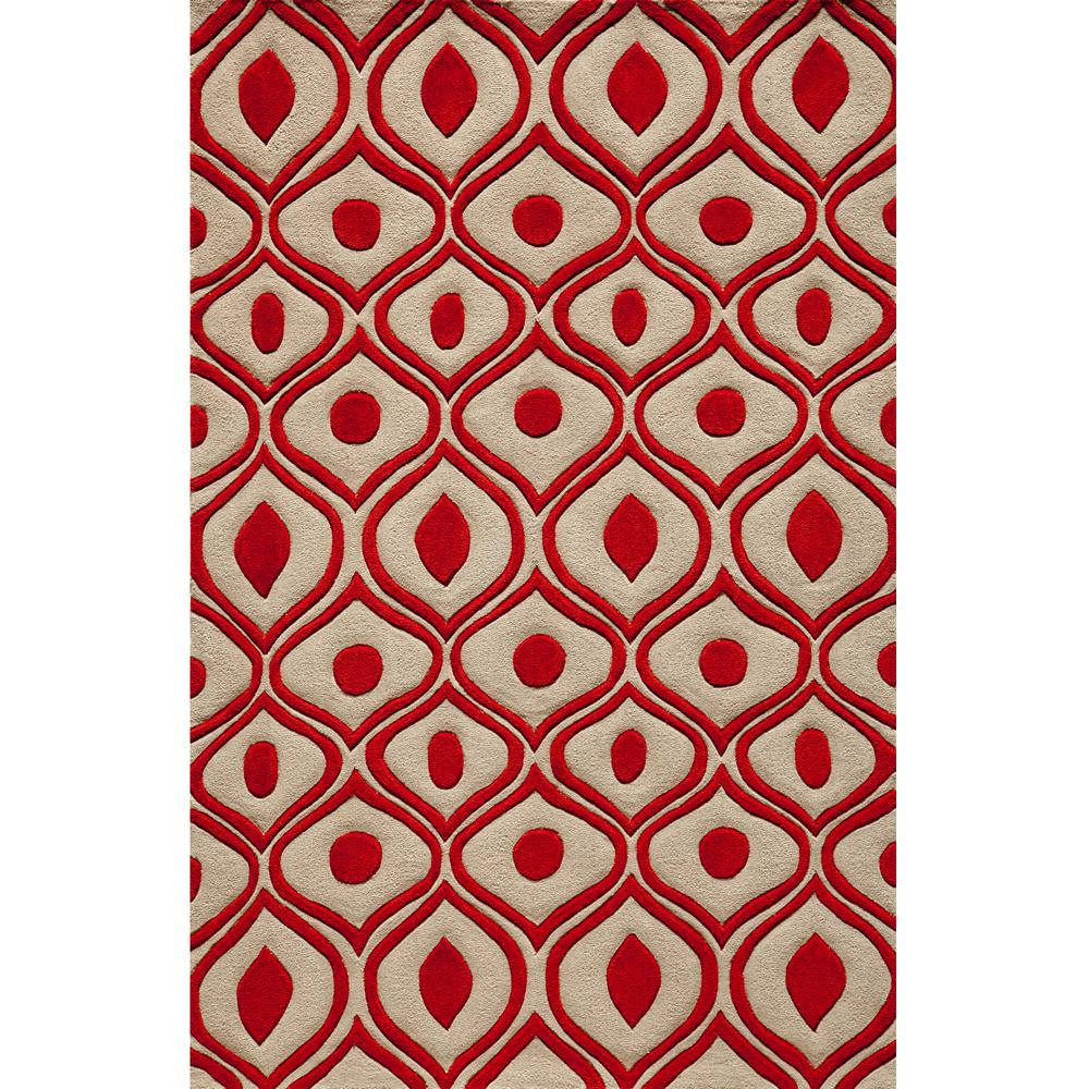 Momeni Ibiza Collection Red 5 ft. x 7 ft. 6 in. Indoor Area Rug