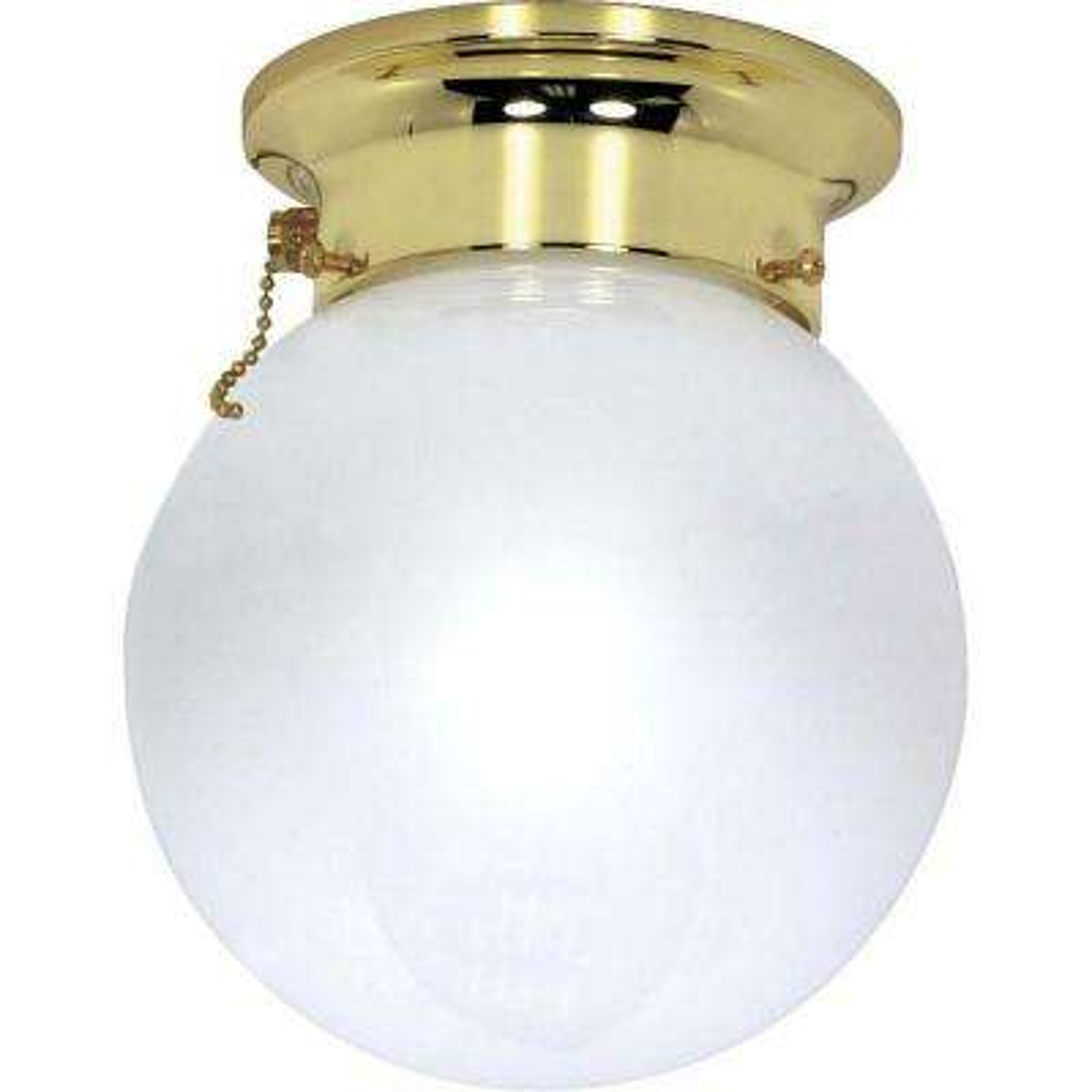 Elektra 1-Light Polished Brass Semi-Flush Mount Light