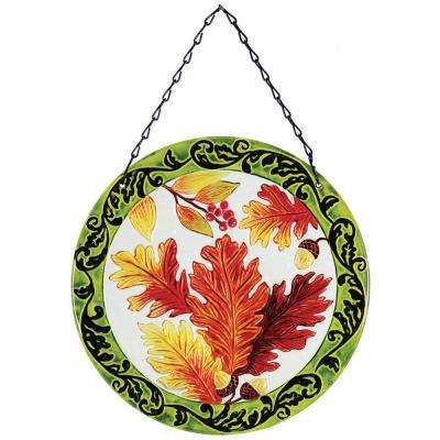 12 in. Glass Sun-Catcher Leaves