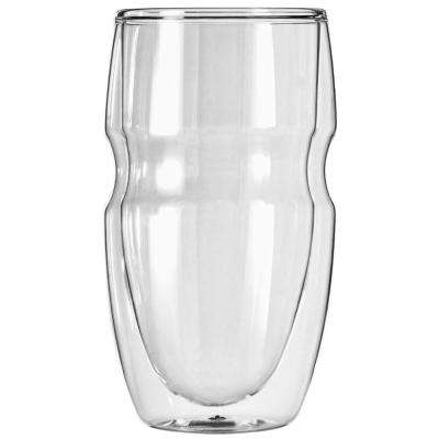 Serafino Double Wall 16 oz. Iced Tea and Coffee Insulated Drinking Glasses (Set of 2)
