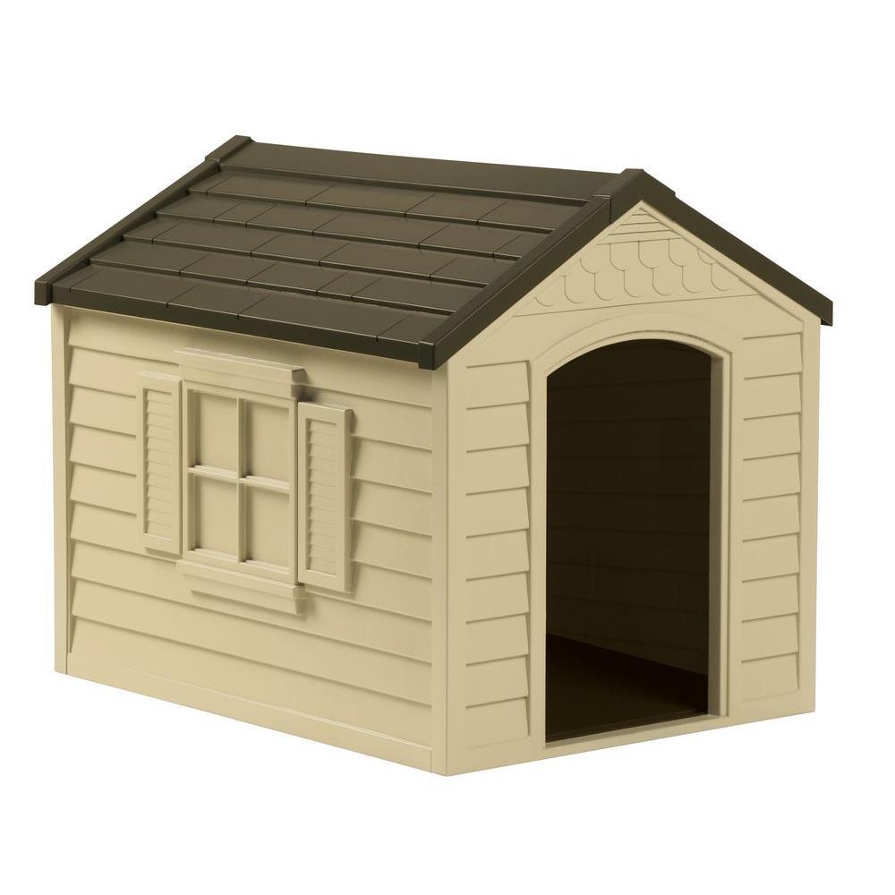 Unbranded 27 in. W x 35 in. D x 29.5 in. H Dog House-DH250 - The Home Depot