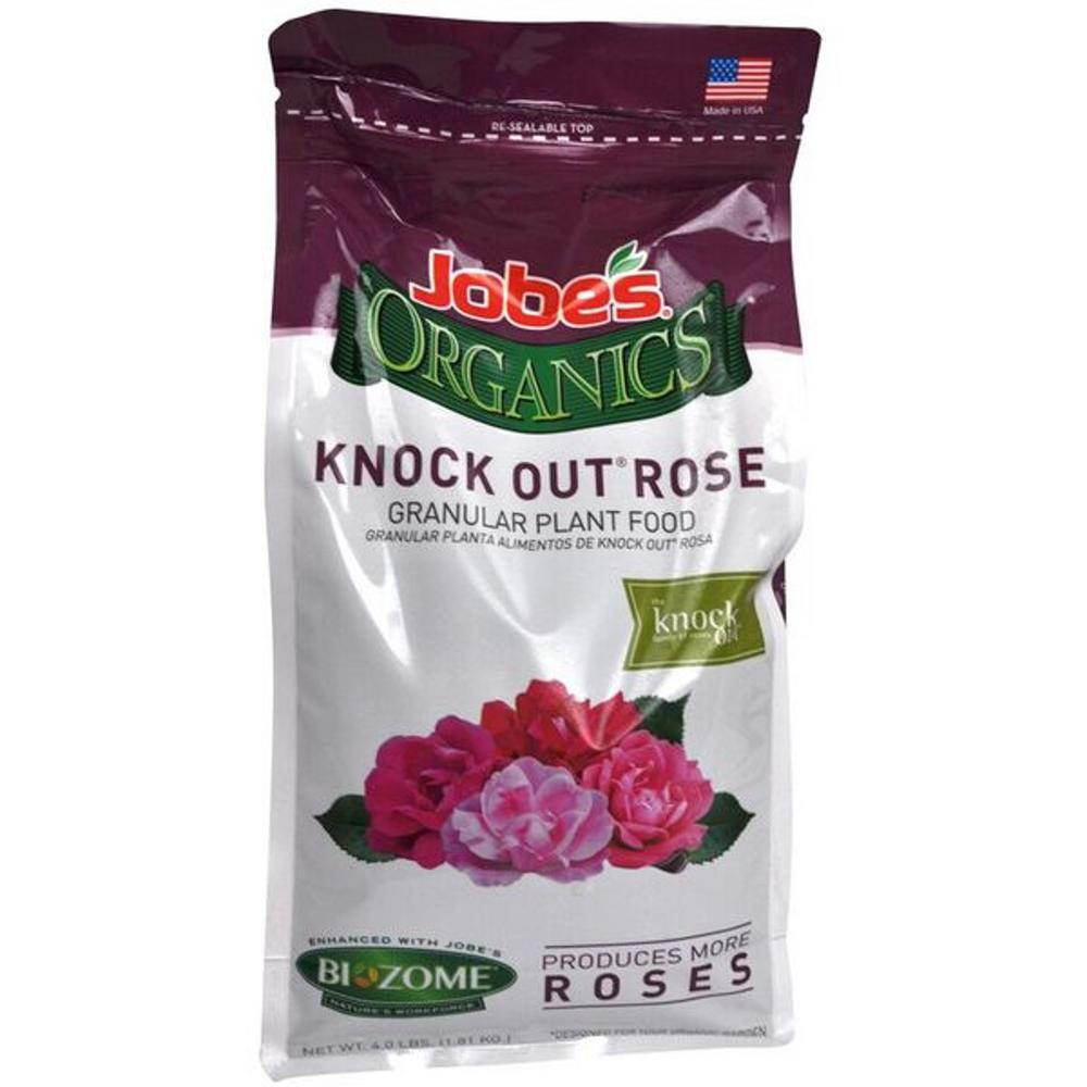 Fertilizing Knockout Roses: Jobes 4 Lbs. Organic Knock-Out Rose Plant Food Fertilizer