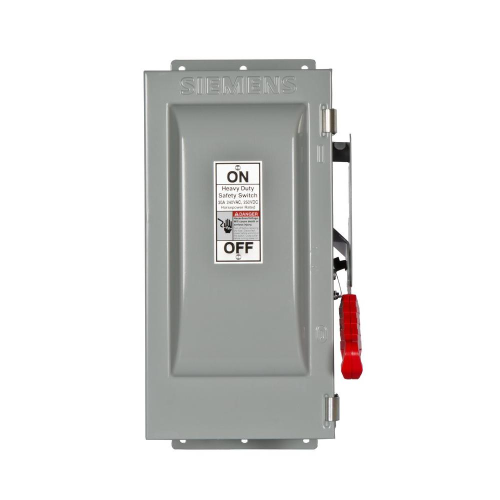 Siemens Heavy Duty 30 Amp 240-Volt 3-Pole Type 12 Fusible Safety Switch