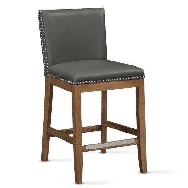 Somerville 25 in. Grey Cushioned Counter Stool