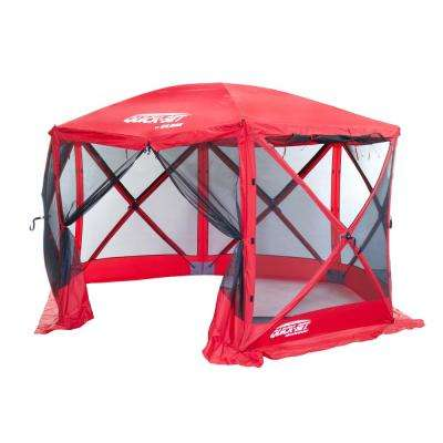 Quickset Escape 6-Side Red Sport Screen Shelter