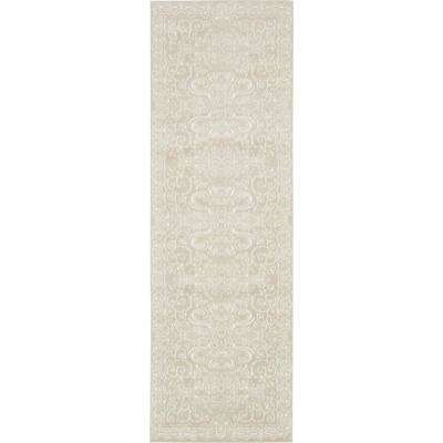Rushmore Adams Snow White 3' 0 x 9' 10 Runner Rug