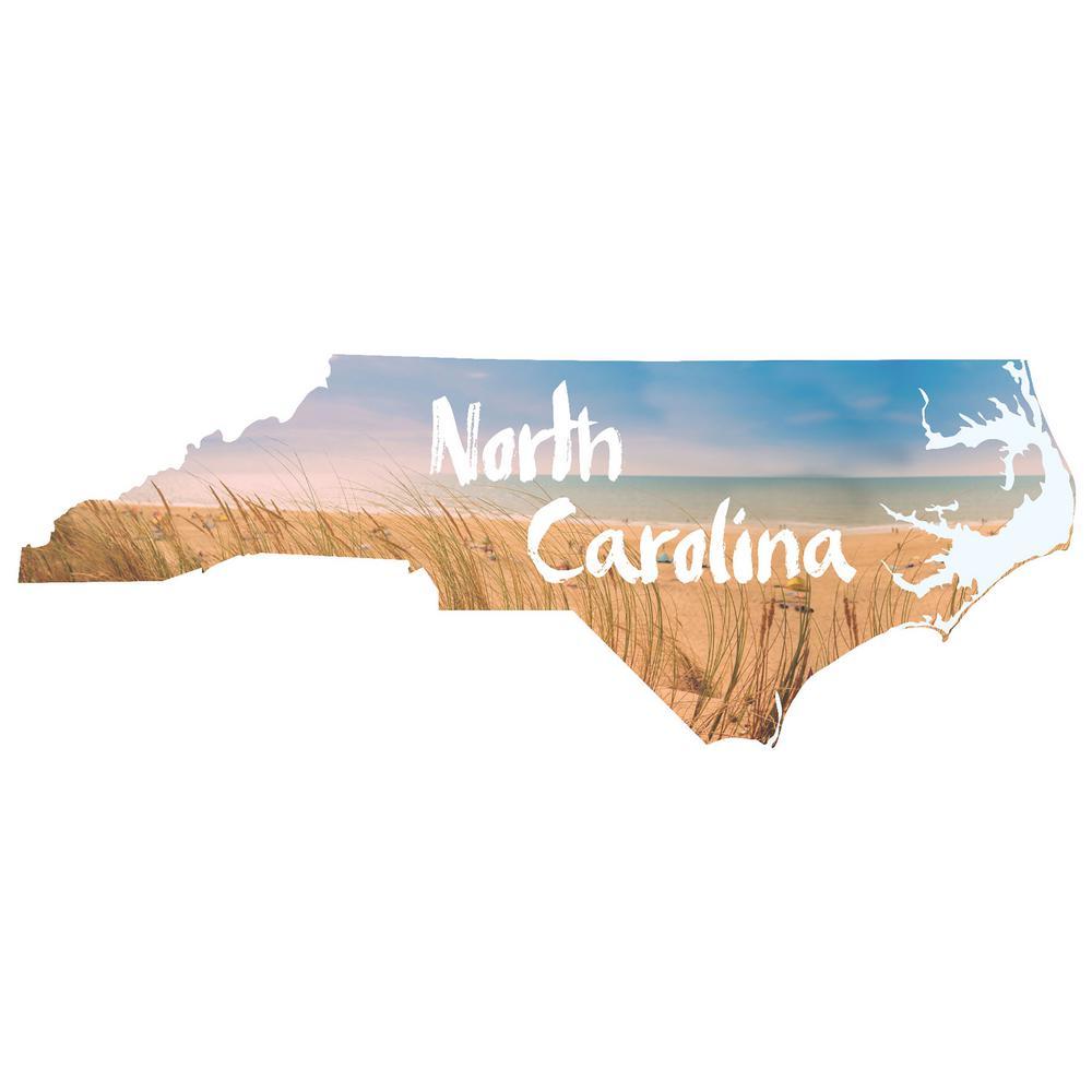 Blue North Carolina Wall Decal