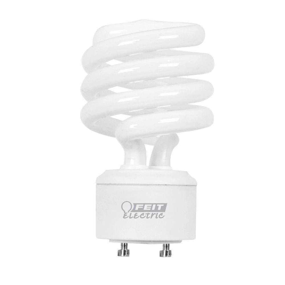 Feit Electric 75-Watt Equivalent Soft White (2700K) Spiral GU24 CFL Light Bulb