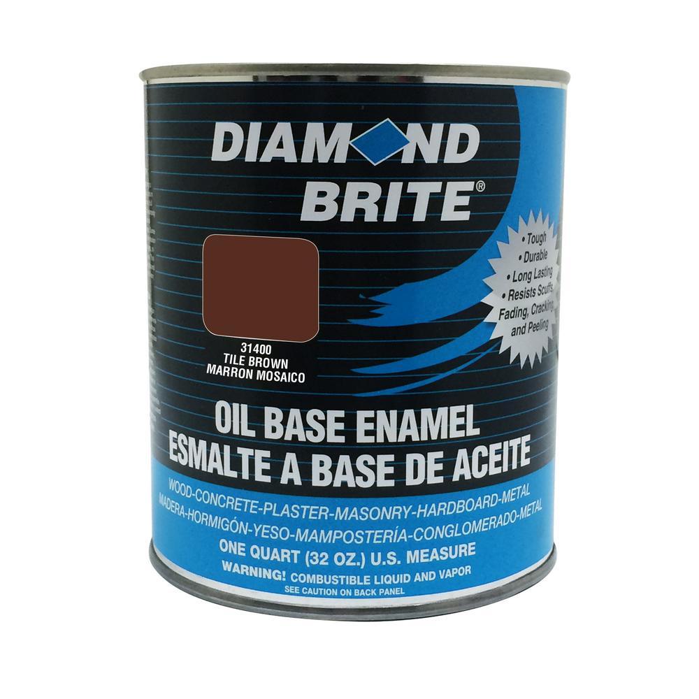 1 qt. Tile Brown Oil Base Enamel Interior/Exterior Paint