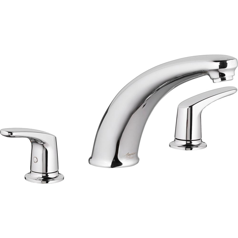 American Standard Colony PRO 2-Handle Deck-Mount Roman Tub Faucet for Flash Rough-in Valves in Polished Chrome