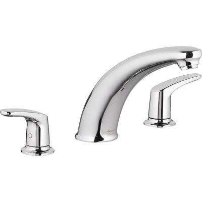 Colony PRO 2-Handle Deck-Mount Roman Tub Faucet for Flash Rough-in Valves in Polished Chrome