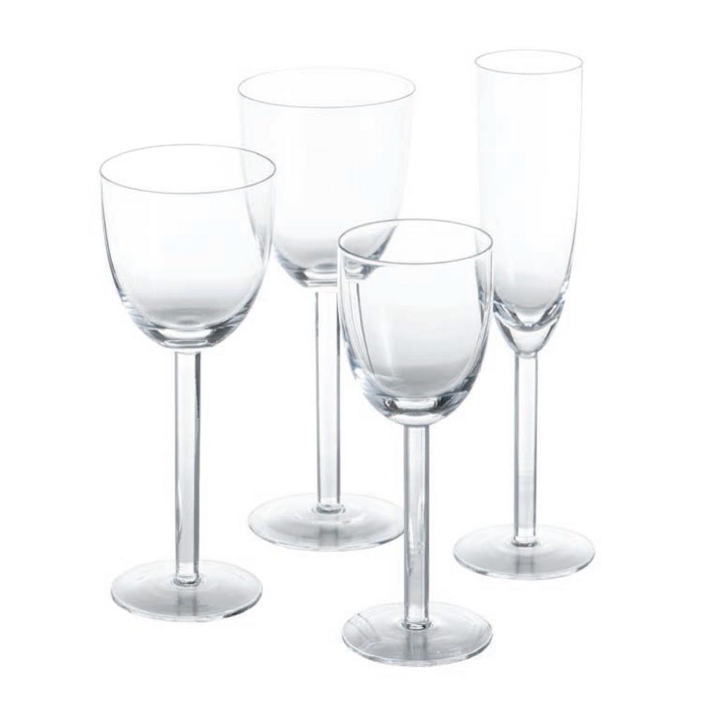 Paola 3 in. D x 8 in. H Red Wine Glass (Set of 4)