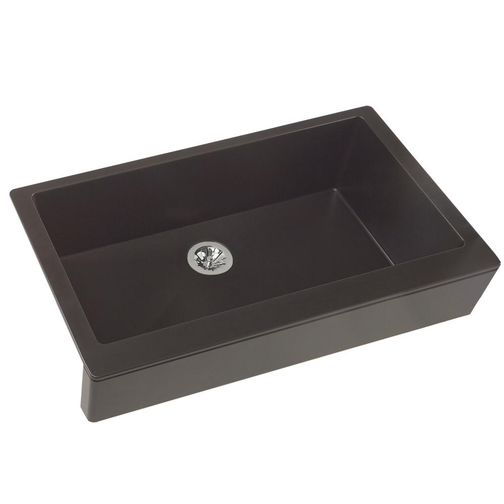 Genial Quartz Luxe Perfect Drain Farmhouse Apron Front Composite 36 In. Single  Bowl Kitchen Sink In