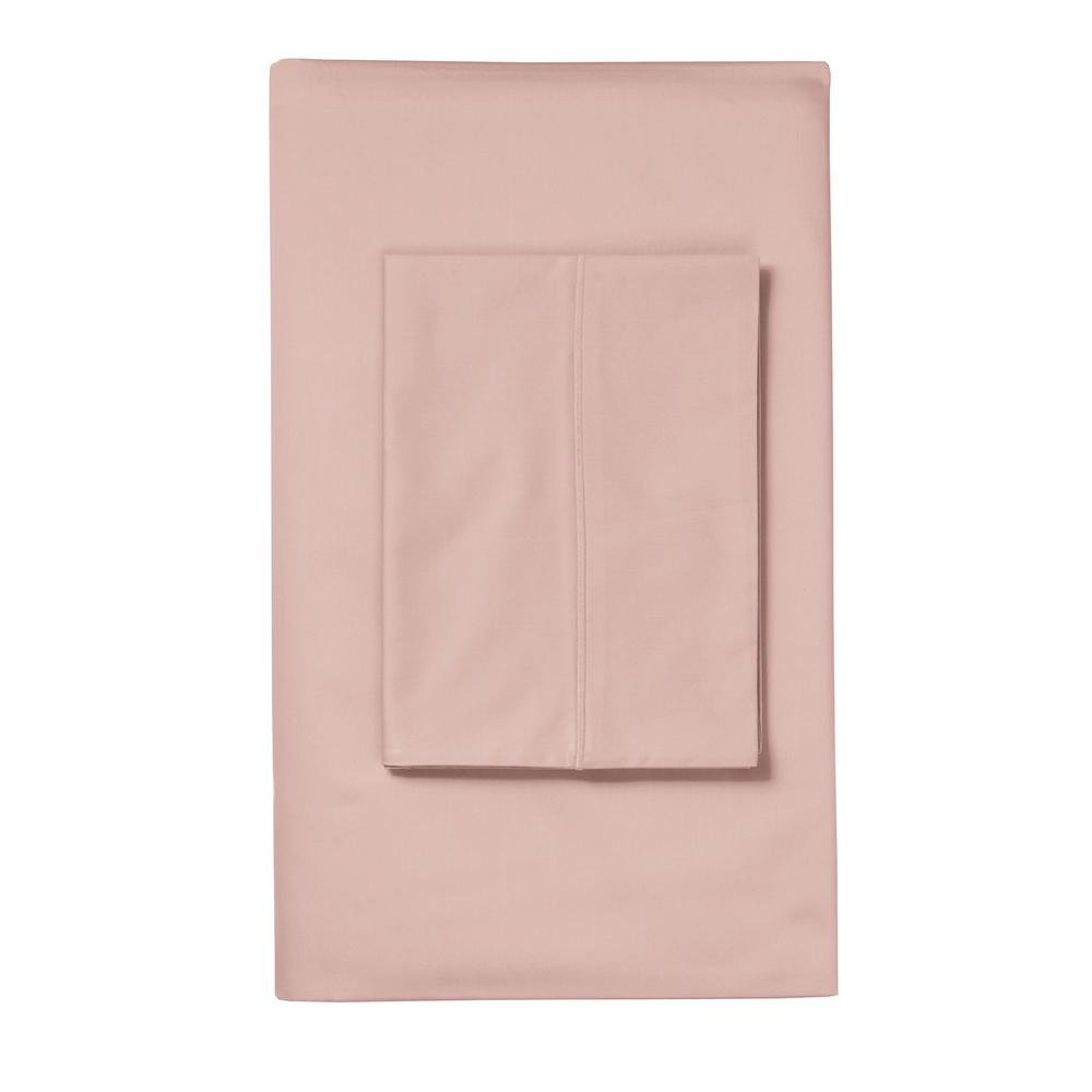 The Company Clic Solid Rose Quartz Sa King Pillowcase Set Of 2 Qt61 K Roseqtz Home Depot