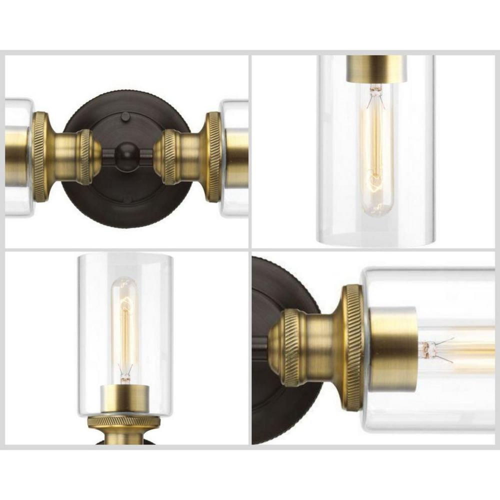 Progress Lighting P2106-20 36 in 5-Light Antique Bronze Bathroom Vanity Light