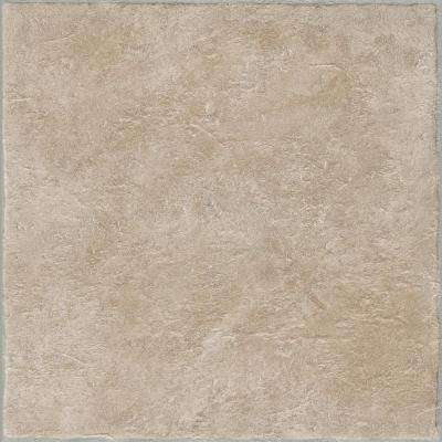 Grouted Ceramic II Pumice 12 in. x 12 in. Residential Peel and Stick Vinyl Tile Flooring (45 sq. ft. / case)
