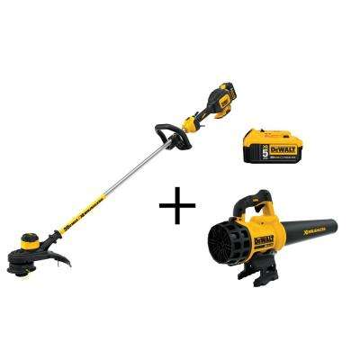 13 in. 20-Volt MAX Lithium-Ion Cordless String Grass Trimmer with 5.0Ah Battery, Charger and Bonus Blower and Battery