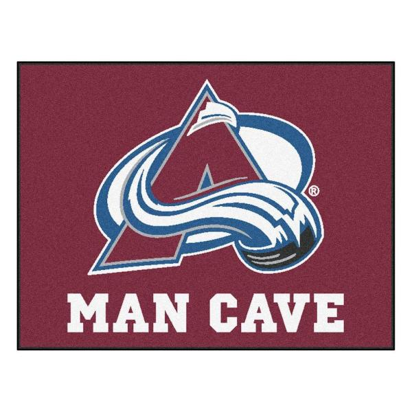 Colorado Avalanche Red Man Cave 3 ft. x 4 ft. Area Rug