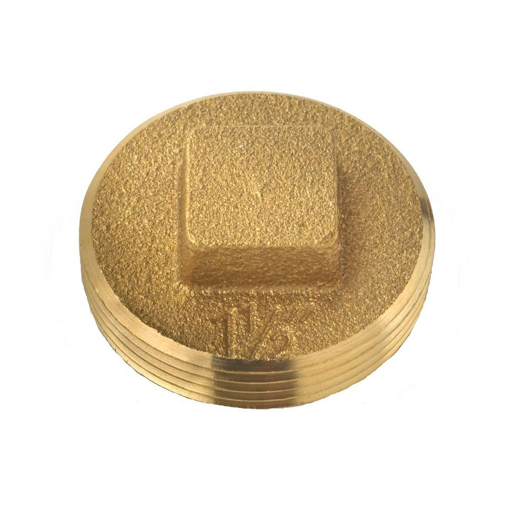 Oatey 1-1/2 in. Brass DWV BE Cleanout Plug