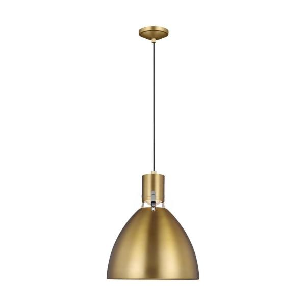 Brynne 14-Watt Integrated LED Burnished Brass Pendant