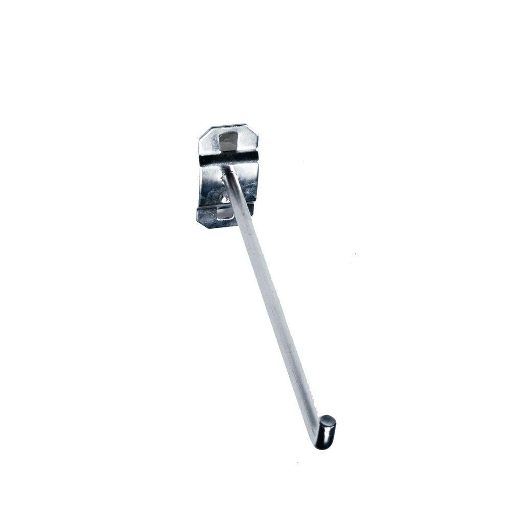 6 in. Single Rod 90 Bend Stainless Steel LocBoard Hooks (3-Pack)