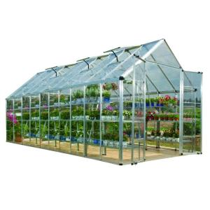 Palram Snap and Grow 8 ft. x 20 ft. Silver Polycarbonate Greenhouse by Palram