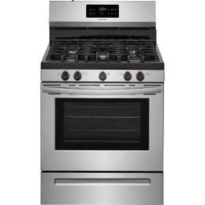 Frigidaire 30 inch 5.0 cu. ft. Gas Range with Self-Cleaning Oven in Stainless Steel by Frigidaire