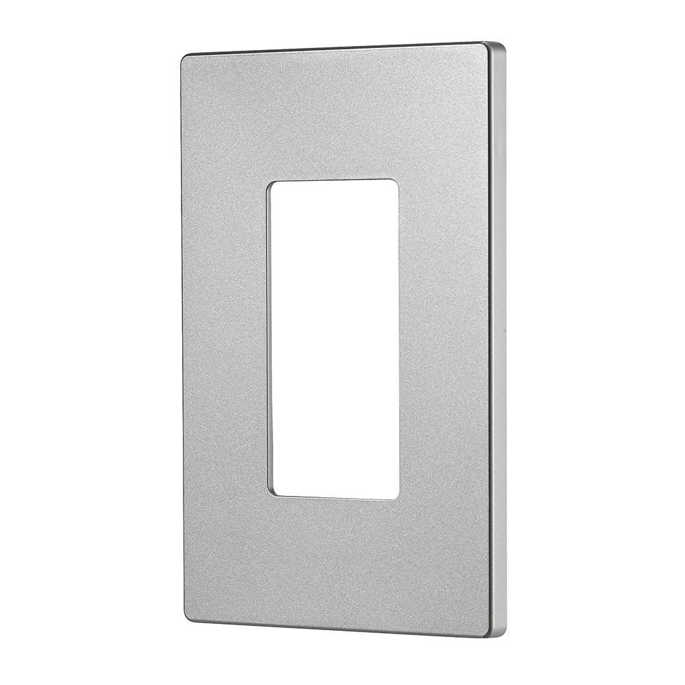Designer 1-Gang Screwless Wallplate, Silver Granite