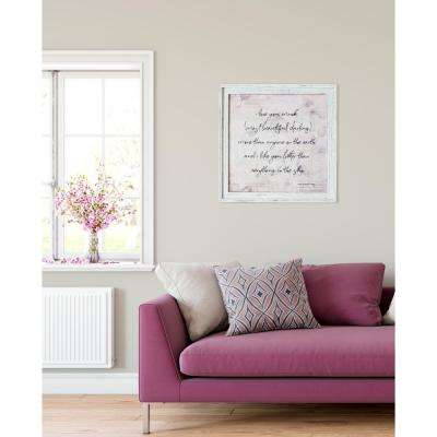 "23.25 in. W x 23.25 in. H ""I Love You Much"" by SMD Framed Printed Wall Art"