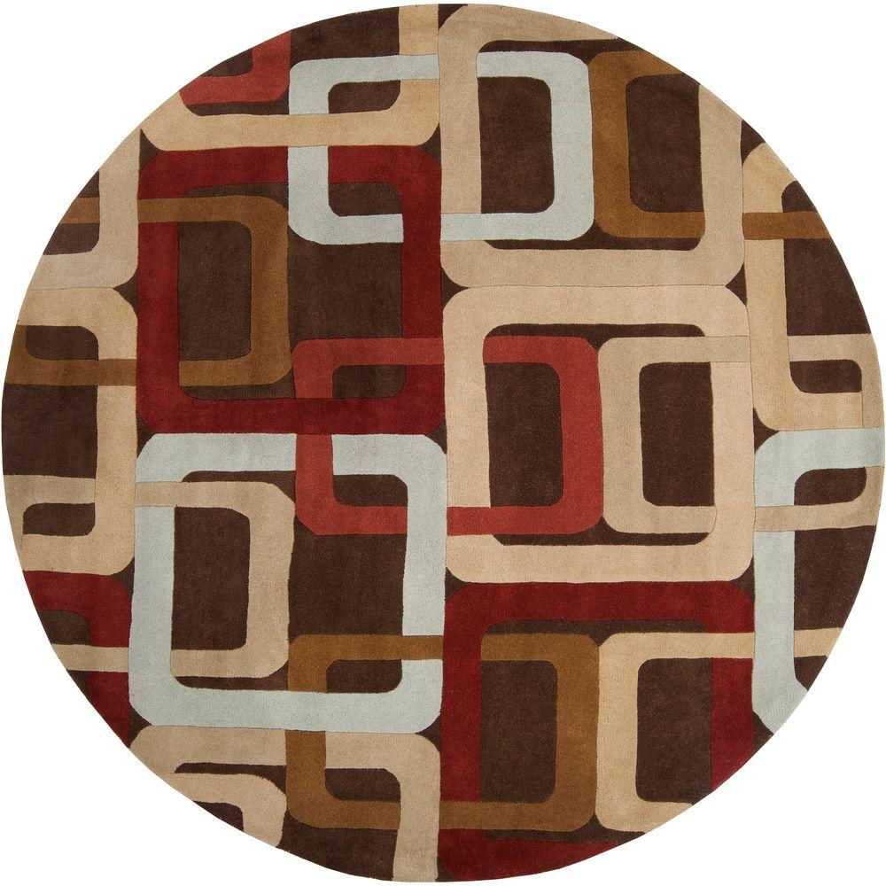 Michael Brown 8 ft. x 8 ft. Round Area Rug