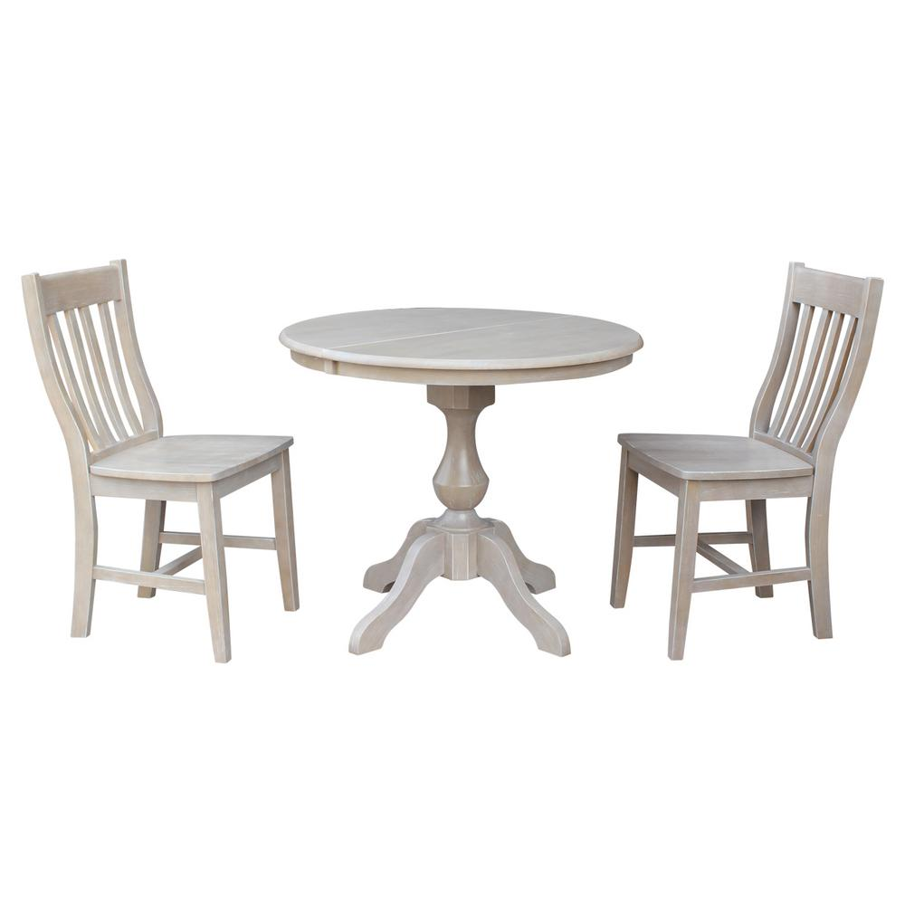 International Concepts Sophia 3-Piece Oval Weathered Gray...