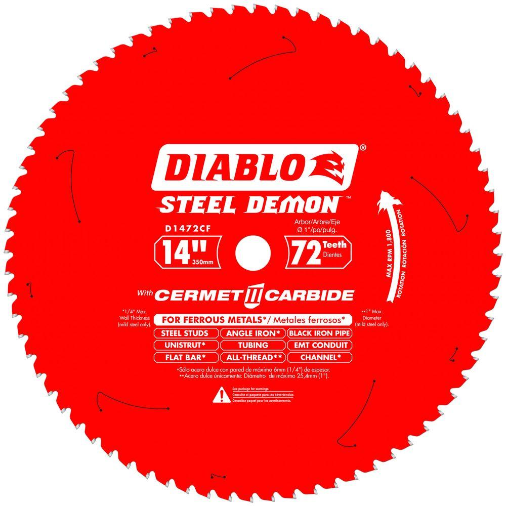 DIABLO 14 in. x 72 TPI Steel Demon Cermet II Carbide Blade for Ferrous Metals