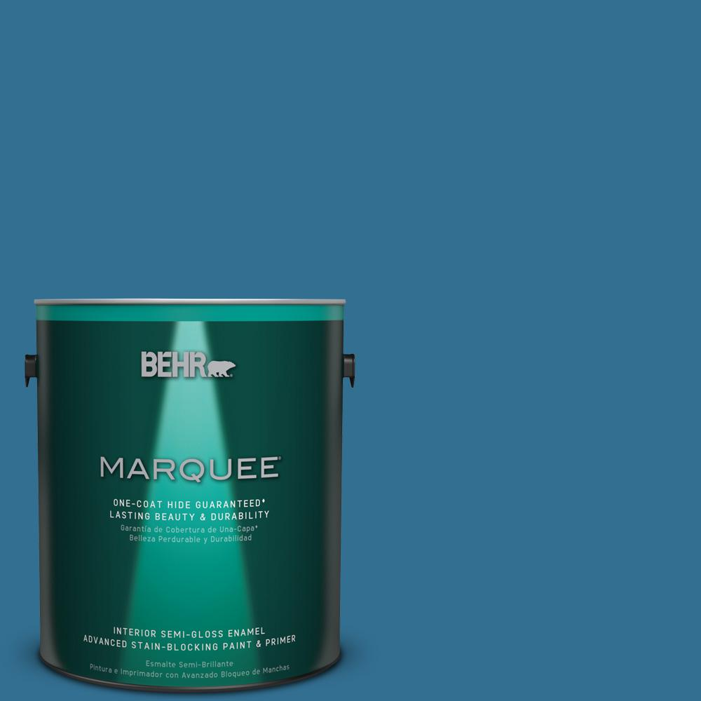 1 gal. #T18-14 Soul Search Semi-Gloss Enamel Interior Paint