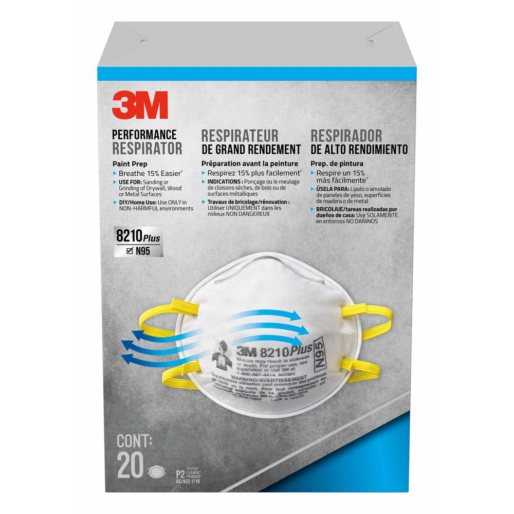 4 Paint case Disposable Prep 20-pack N95 3m Of Performance Respirator Particulate