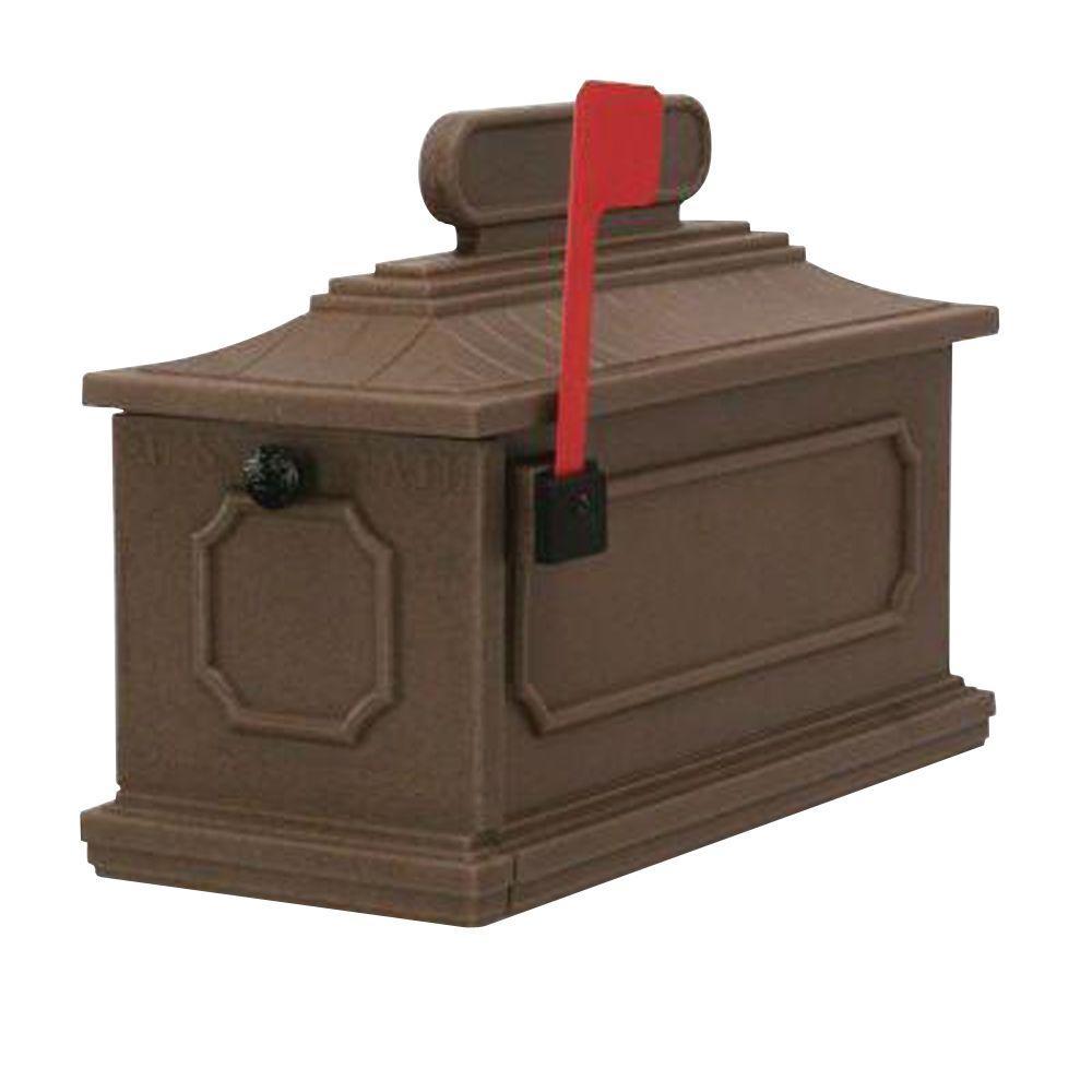 1812 Architectural Plastic Mailbox in Coffee