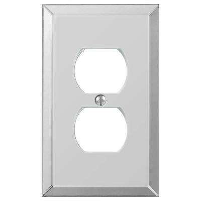 Acrylic Mirror 1 Duplex Outlet Plate