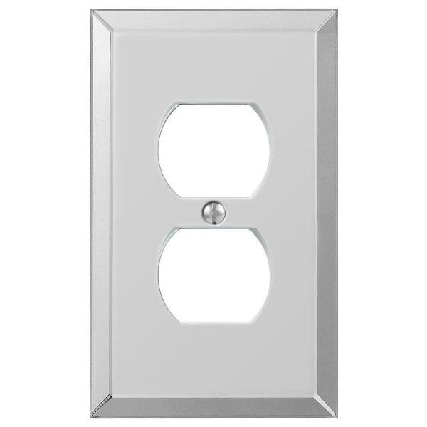 Acrylic 1 Gang Duplex Acryilic Wall Plate - Polished Mirror